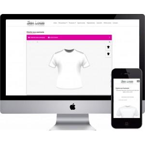 Criação de Site Personalização de Produtos Camisetas, Canecas, Outros