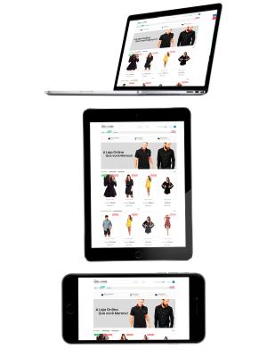 Criação de Loja Virtual de Roupas Masculinas